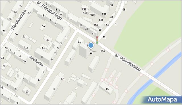 Lublin, Aleja Piłsudskiego Józefa, marsz., 13, mapa Lublina