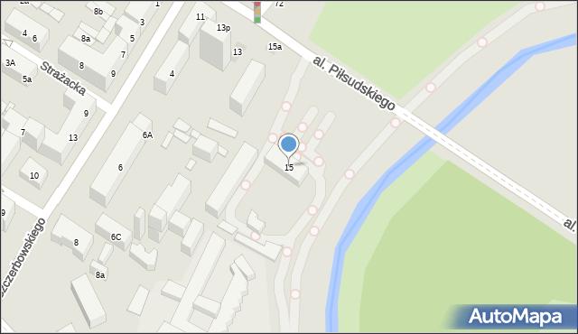 Lublin, Aleja Piłsudskiego Józefa, marsz., 15, mapa Lublina