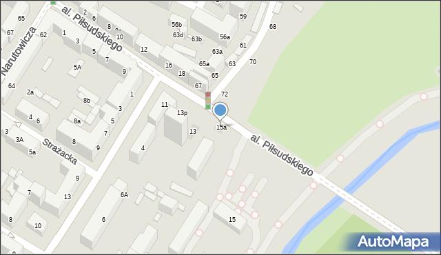 Lublin, Aleja Piłsudskiego Józefa, marsz., 15a, mapa Lublina