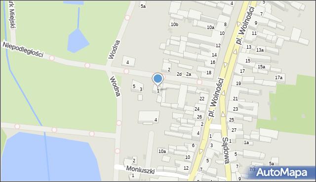 Mogilno, Aleja Niepodległości, 1, mapa Mogilno