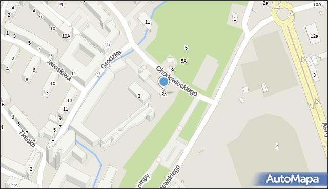 Nysa, Aleja Lompy Józefa, 3a, mapa Nysy