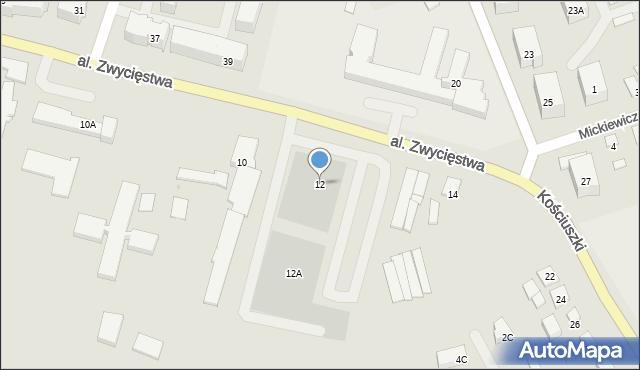 Olecko, Aleja Zwycięstwa, 12, mapa Olecko