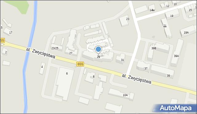 Olecko, Aleja Zwycięstwa, 29, mapa Olecko