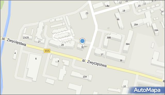 Olecko, Aleja Zwycięstwa, 31, mapa Olecko
