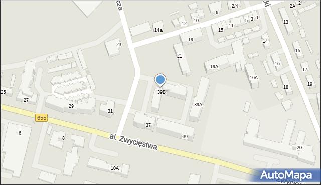 Olecko, Aleja Zwycięstwa, 39B, mapa Olecko