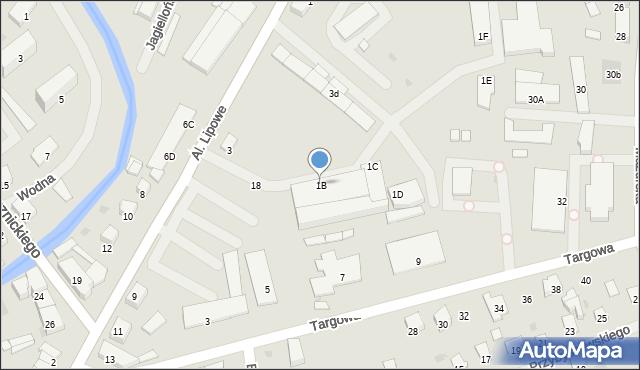 Olecko, Aleje Lipowe, 1B, mapa Olecko