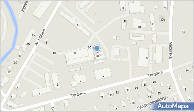 Olecko, Aleje Lipowe, 1D, mapa Olecko