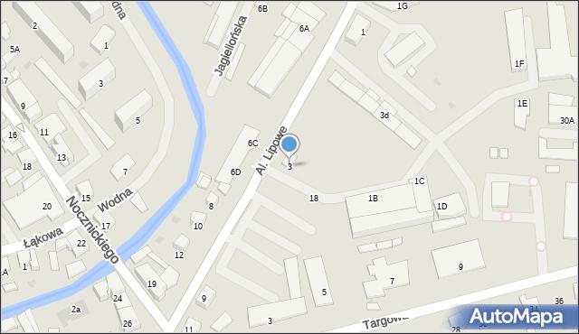 Olecko, Aleje Lipowe, 3, mapa Olecko
