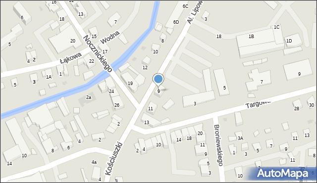 Olecko, Aleje Lipowe, 9, mapa Olecko