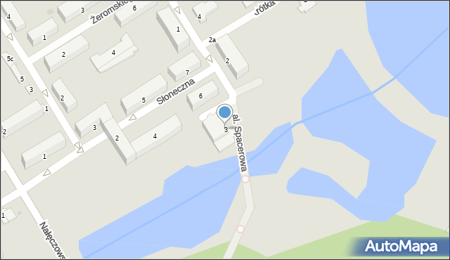 Poniatowa, Aleja Spacerowa, 3, mapa Poniatowa