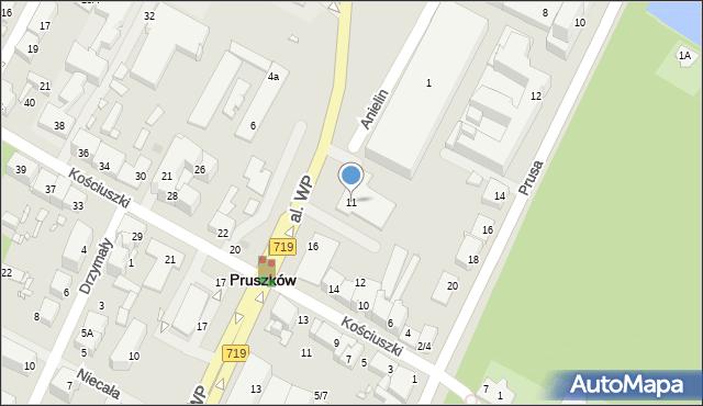 Pruszków, Aleja Wojska Polskiego, 11, mapa Pruszków