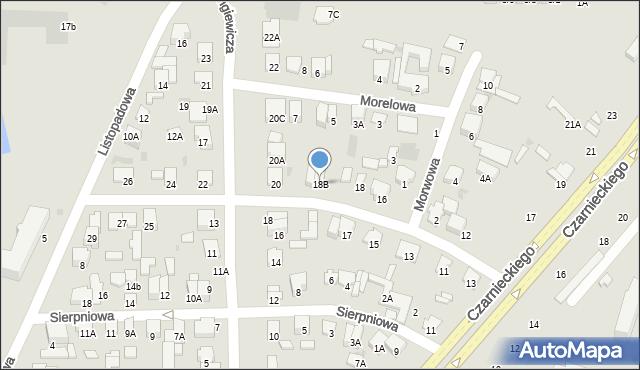 Radom, Aleja Róż, 18B, mapa Radomia