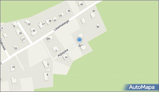 Robakowo, Alpejska, 18, mapa Robakowo