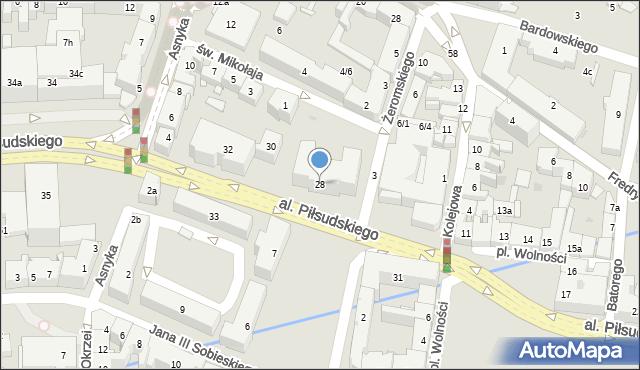 Rzeszów, Aleja Piłsudskiego Józefa, marsz., 28, mapa Rzeszów
