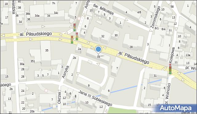 Rzeszów, Aleja Piłsudskiego Józefa, marsz., 33, mapa Rzeszów