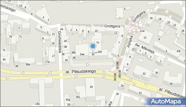 Rzeszów, Aleja Piłsudskiego Józefa, marsz., 34, mapa Rzeszów