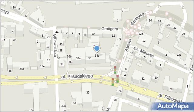 Rzeszów, Aleja Piłsudskiego Józefa, marsz., 34c, mapa Rzeszów