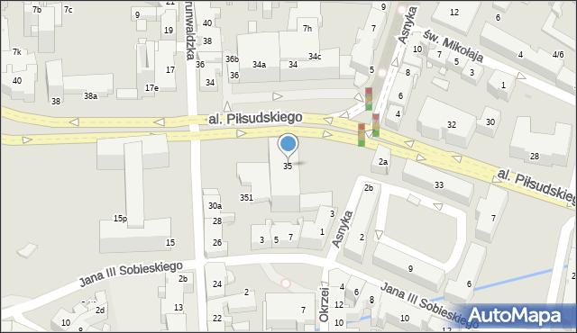 Rzeszów, Aleja Piłsudskiego Józefa, marsz., 35, mapa Rzeszów