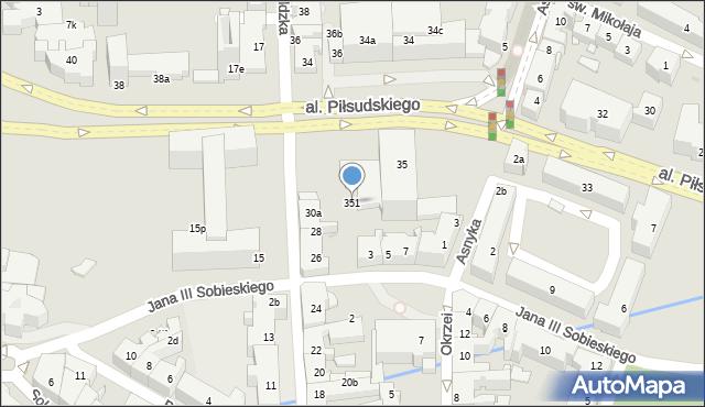 Rzeszów, Aleja Piłsudskiego Józefa, marsz., 351, mapa Rzeszów