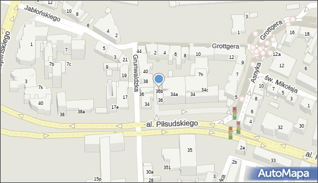 Rzeszów, Aleja Piłsudskiego Józefa, marsz., 36b, mapa Rzeszów