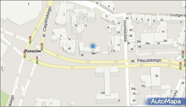Rzeszów, Aleja Piłsudskiego Józefa, marsz., 38a, mapa Rzeszów
