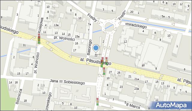 Rzeszów, Aleja Piłsudskiego Józefa, marsz., 22, mapa Rzeszów