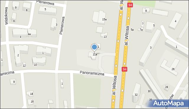 Rzeszów, Aleja Witosa Wincentego, 11a, mapa Rzeszów