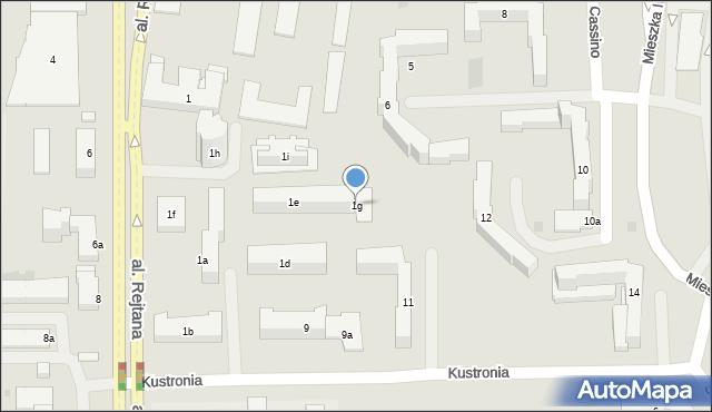 Rzeszów, Aleja Rejtana Tadeusza, 1g, mapa Rzeszów