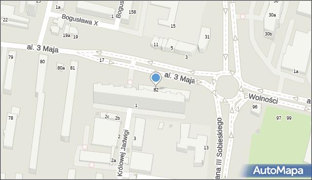Słupsk, Aleja 3 Maja, 82, mapa Słupska