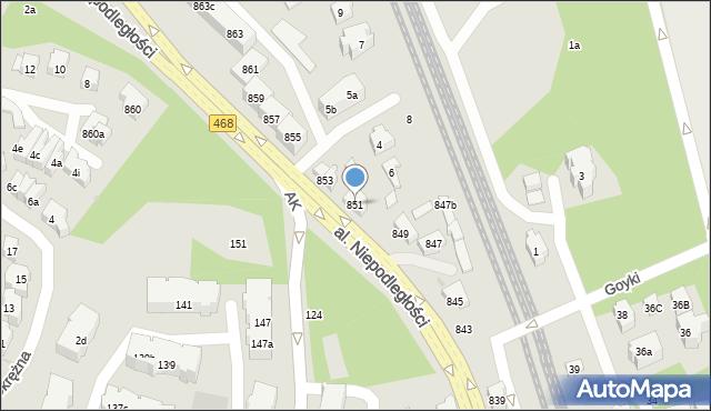 Sopot, Aleja Niepodległości, 851, mapa Sopotu