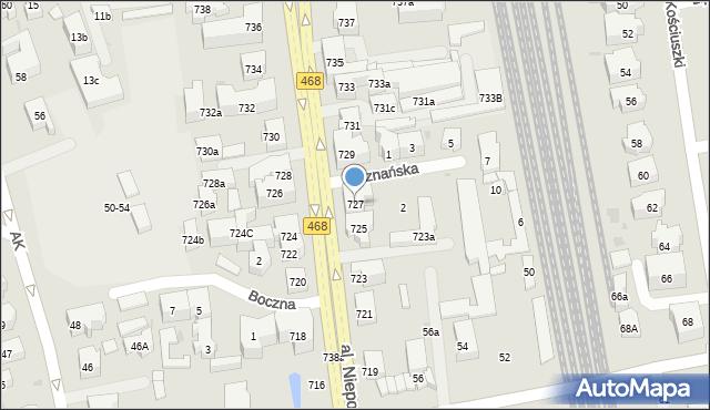 Sopot, Aleja Niepodległości, 727, mapa Sopotu