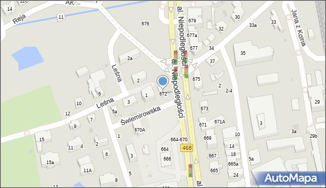 Sopot, Aleja Niepodległości, 672, mapa Sopotu