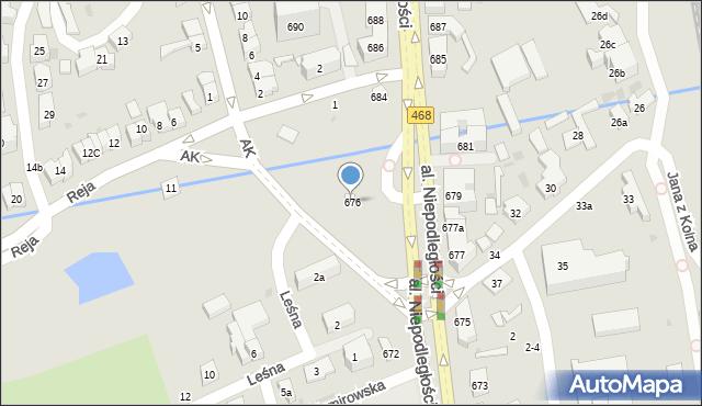 Sopot, Aleja Niepodległości, 676, mapa Sopotu