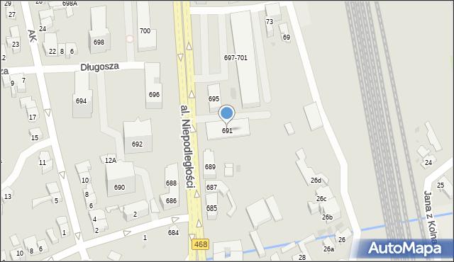 Sopot, Aleja Niepodległości, 691, mapa Sopotu