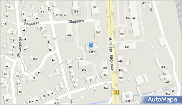 Sopot, Aleja Niepodległości, 692, mapa Sopotu