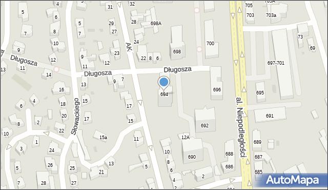 Sopot, Aleja Niepodległości, 694, mapa Sopotu