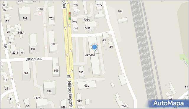 Sopot, Aleja Niepodległości, 697/701, mapa Sopotu