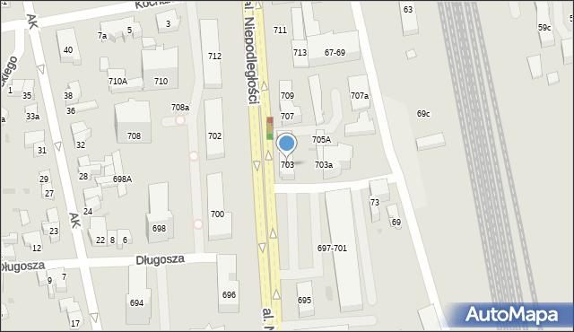 Sopot, Aleja Niepodległości, 703, mapa Sopotu