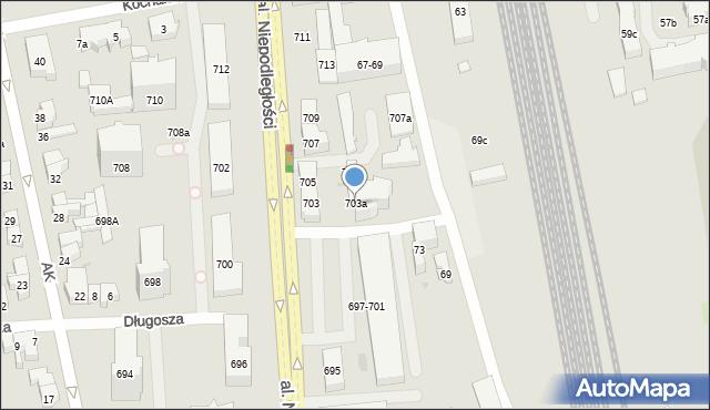 Sopot, Aleja Niepodległości, 703a, mapa Sopotu