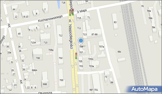 Sopot, Aleja Niepodległości, 709, mapa Sopotu