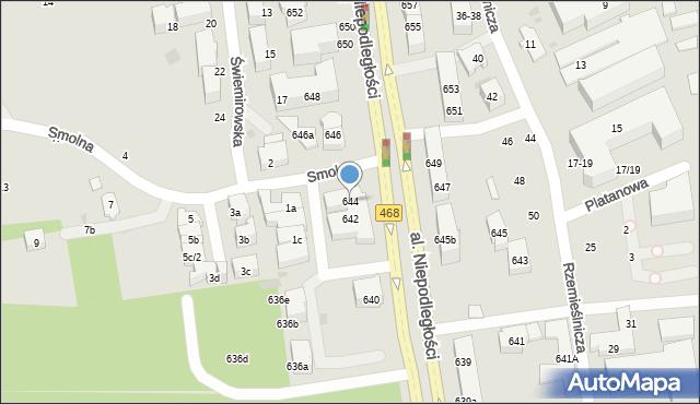 Sopot, Aleja Niepodległości, 644, mapa Sopotu