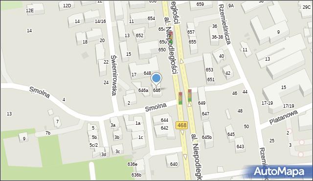 Sopot, Aleja Niepodległości, 646, mapa Sopotu