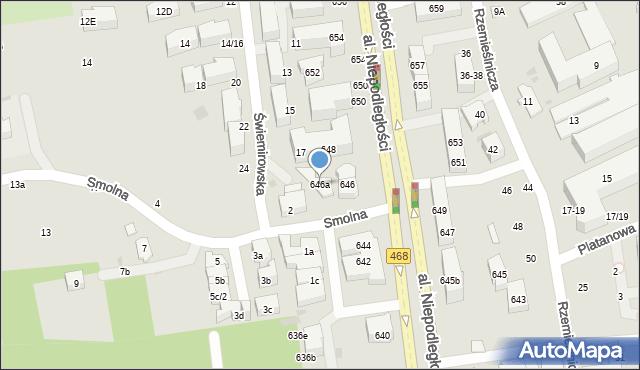 Sopot, Aleja Niepodległości, 646a, mapa Sopotu