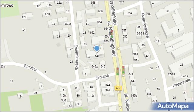 Sopot, Aleja Niepodległości, 648, mapa Sopotu