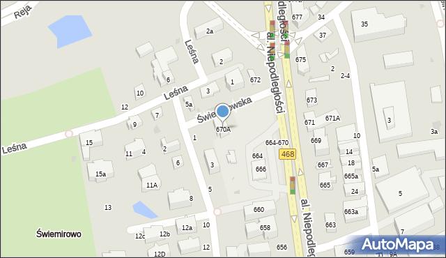 Sopot, Aleja Niepodległości, 670A, mapa Sopotu