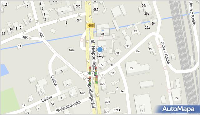 Sopot, Aleja Niepodległości, 677a, mapa Sopotu