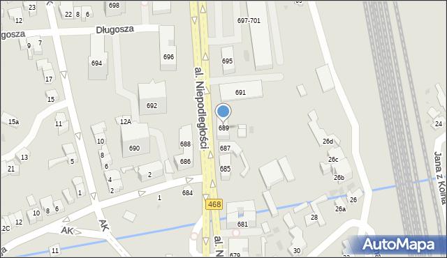 Sopot, Aleja Niepodległości, 689, mapa Sopotu
