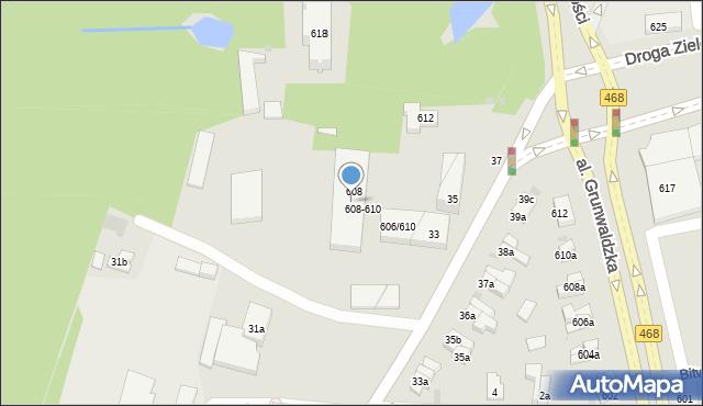 Sopot, Aleja Niepodległości, 610, mapa Sopotu