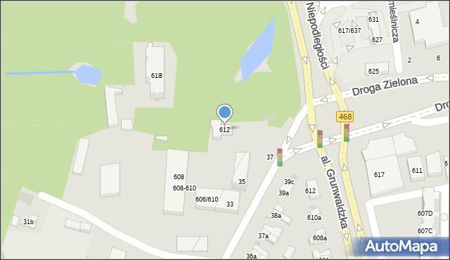 Sopot, Aleja Niepodległości, 612, mapa Sopotu