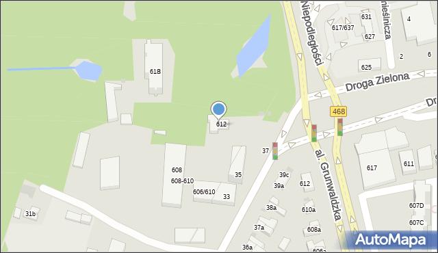 Sopot, Aleja Niepodległości, 612A, mapa Sopotu